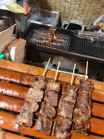 秀郷祭り 牛串 タン塩