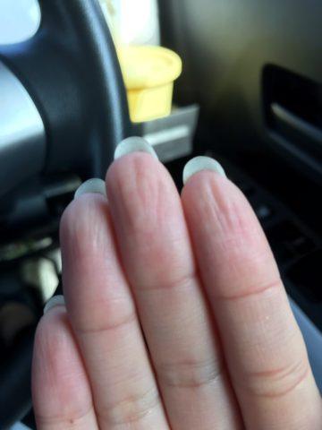 ふやふやの指