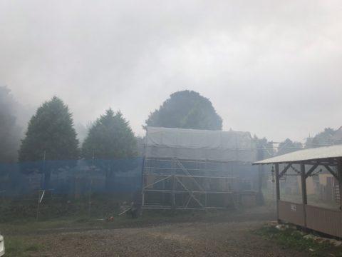 霧がかかったフィールド