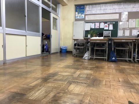 避難所の校舎 教室