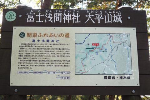 富士浅間神社 看板