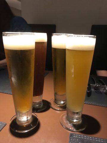 生ビールとビアカクテル
