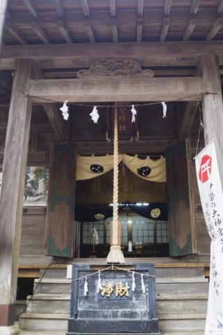 涌釜神社の社殿