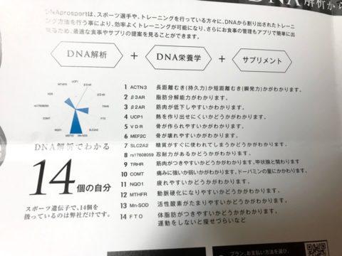 DNA検査の14項目