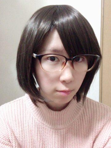 眼鏡買って自撮り
