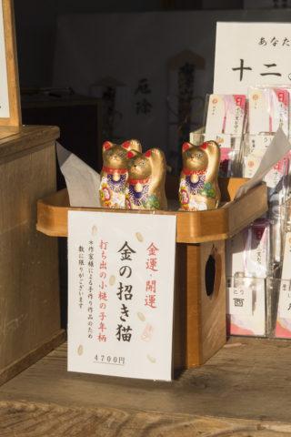 唐沢山神社の金の招き猫