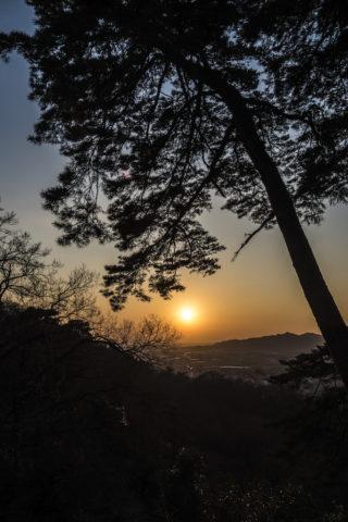 唐沢山神社からの夕焼け