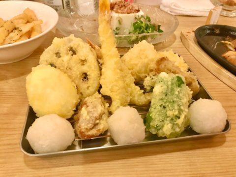 tenの天ぷら盛り合わせ