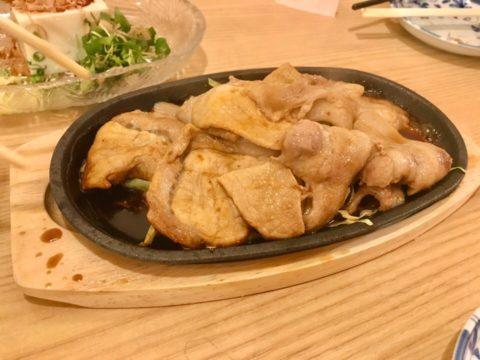 豚肉の鉄板焼き