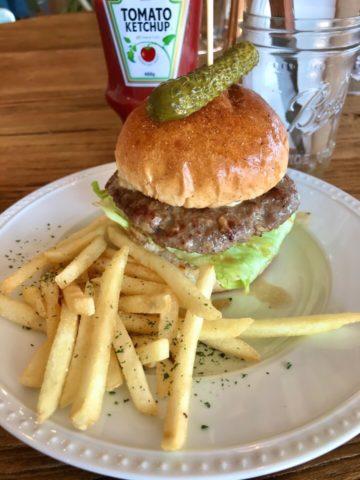 シュガーヒルカフェのハンバーガー