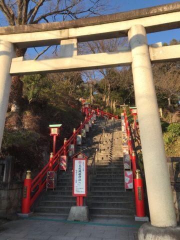 織姫神社の階段
