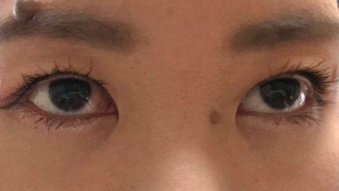 メイク後の目