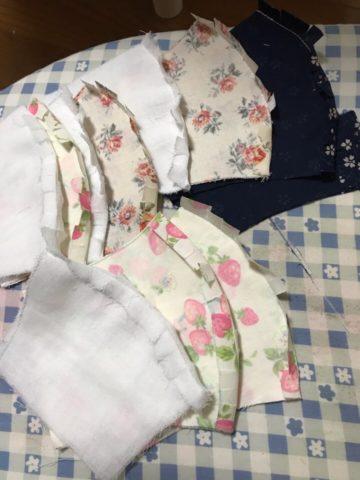 縫い代を割る作業
