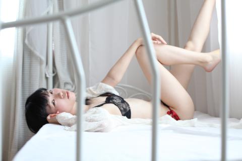 ベッドの上