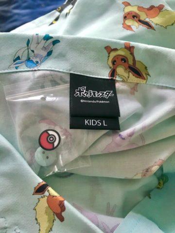 子供用サイズのポケモンシャツ