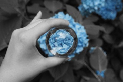 青のパートカラー