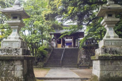 境内の階段