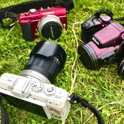 3人のカメラ