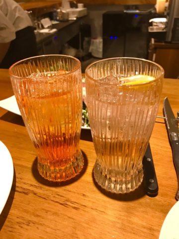 アペロールスプリッツァとイタリアンレモンサワー