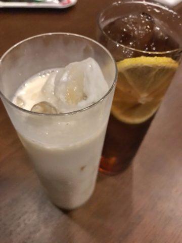 アマレットミルクとロングアイランドアイスティー