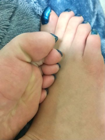 足の裏と爪