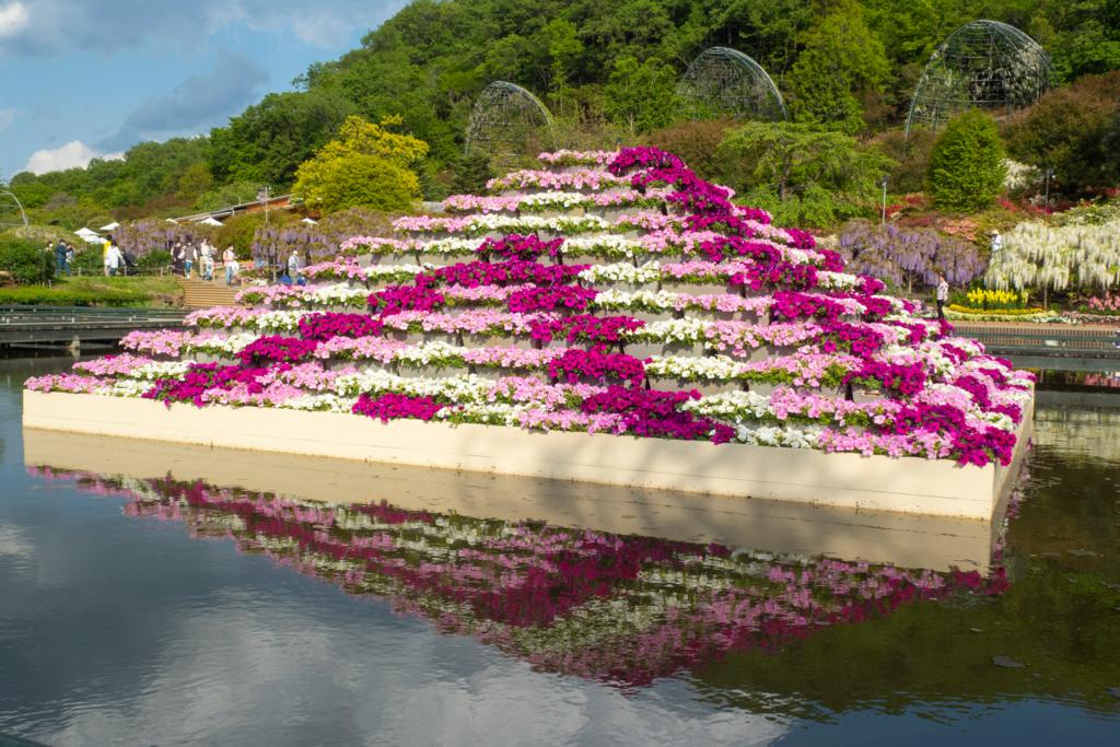 お花のピラミッド