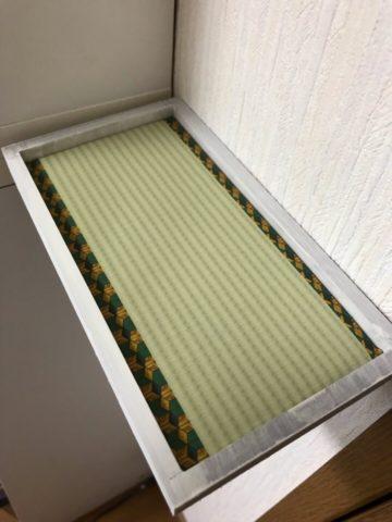 推し柄の手作りミニ畳